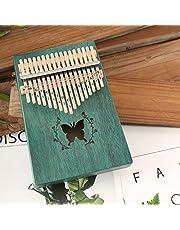 TZZD 17 Tecla de Piano maravillosamente los Instrumentos Musicales de Caoba del Pulgar Piano Principiante Populares Dar 1 Juego de Accesorios (Color : Butterfly)