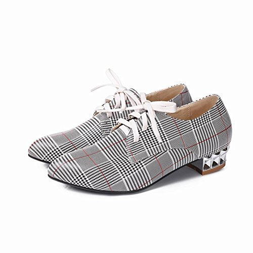 Low Lace Houndstooth Charm Women's Shoes Red Foot Up Oxfords Heel wxACHUCq