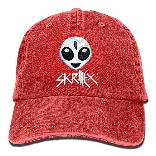 6215a9dd2bd Usvbzd Skrillex Alien Logo Adult Cowboy Hat Baseball Cap Adjustable  Athletic Printed Gifts Hat for Men