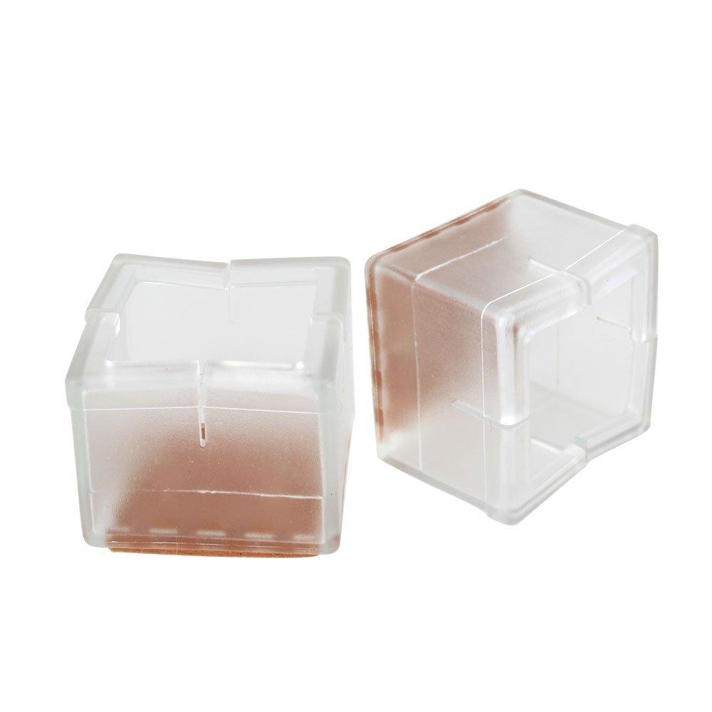 tmodd quadratisch 40/x 40/mm transparent Silikon Gel Stuhlbeinkappen F/ü/ße Pads M/öbel Tabelle beinhaltet Holz Bodenschoner 8/St/ück