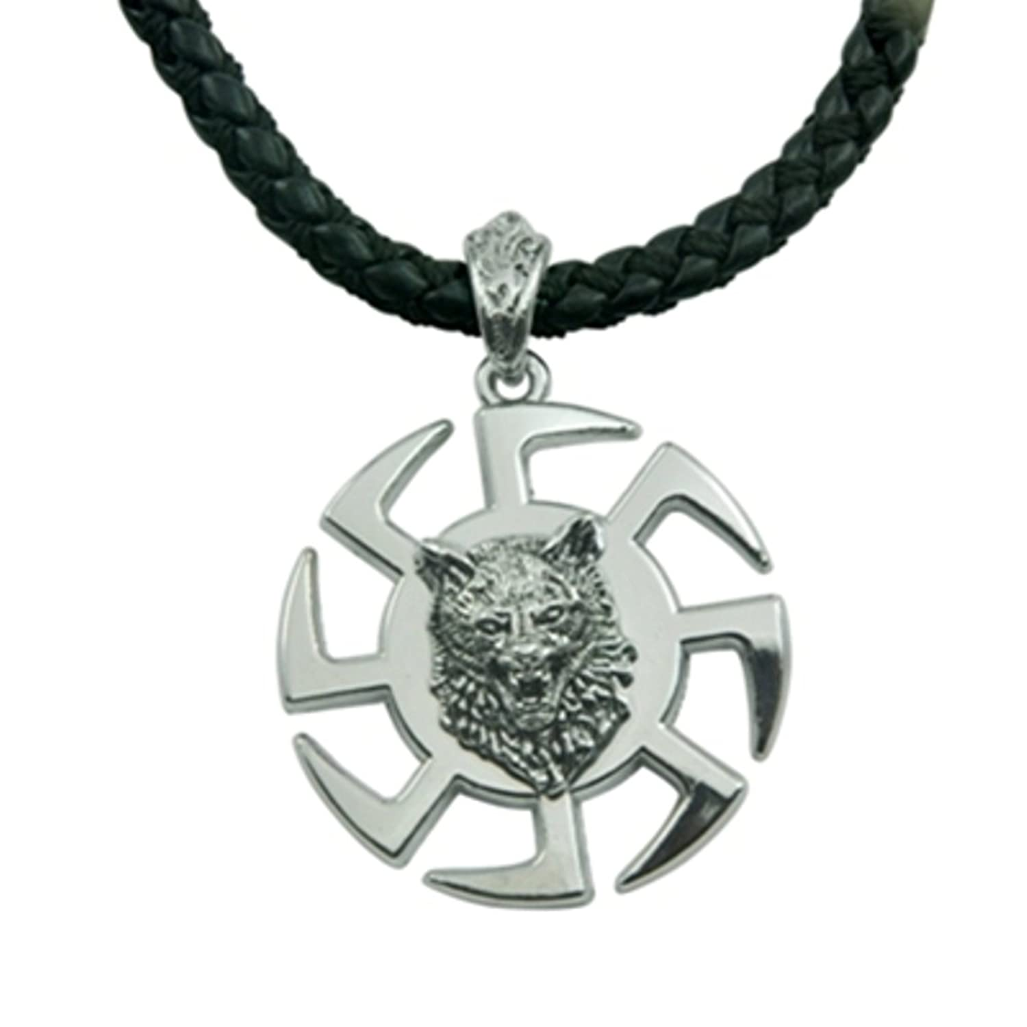 Alpha man mark of the alpha wolf mens id stainless steel alpha man mark of the alpha wolf mens id stainless steel pendant necklace amazon jewellery aloadofball Image collections