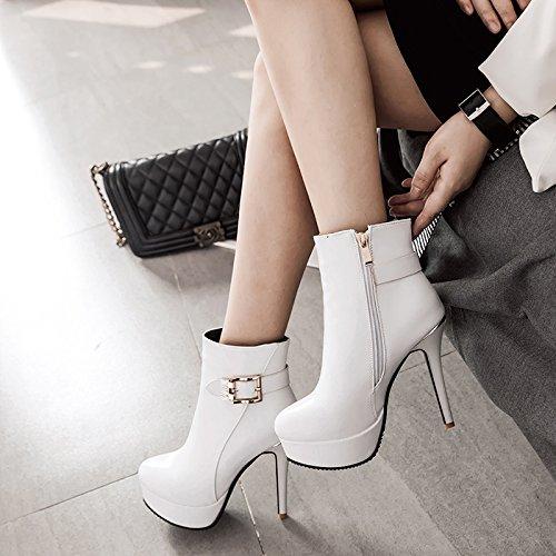 Para la Botas JIEEME a moda Blanco mujer 810I4