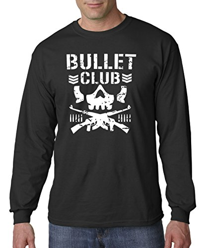 - New Way 786 - Unisex Long-Sleeve T-Shirt Bullet Club Skull Bone Soldier Japan Pro Wrestling Medium Black