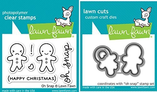 Lawn Fawn Oh Snap Clear Stamp and Die Set - Includes One Each of LF983 (Stamp) & LF984 (Die) - Bundle Of 2 by Lawn Fawn