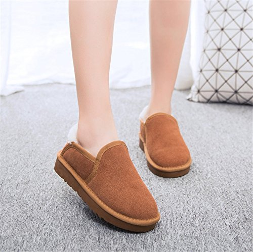 Snow caldo velluto con maroon scarpe Winter caldo Boots pigro antiscivolo dw6gqgY
