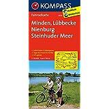 Minden - Lübbecke - Nienburg - Steinhuder Meer: Fahrradkarte. GPS-genau. 1:70000 (KOMPASS-Fahrradkarten Deutschland, Band 3036)