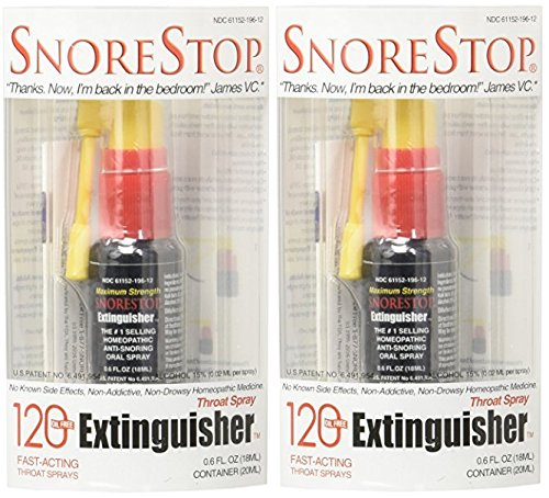 SnoreStop Extinguisher Throat Spray, 120 Sprays 0.6 oz - Snoring Spray