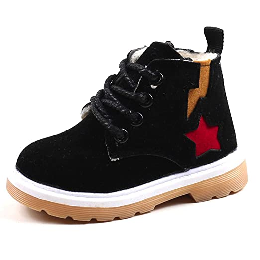 3aa9ab7adf632 Amazon.com: Teen Kids Toddler Baby Boys Girls Leather Martin Shoes ...