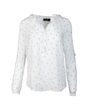 848e80eb8ca9 Zwillingsherz Bluse Damen mit Flamingo - Sommer Oberteile - Hochwertige  schöne und luftige Tunika Chiffon Blusen für Frauen - elegantes langarm  Hemd T-Shirt ...