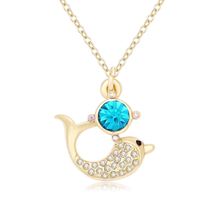 noumanda Lovely Cristal delfín colgante collar para chica regalo