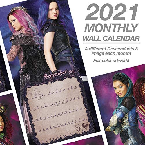 Amazon.: Mead 2021 Disney Descendants 3 Wall Calendar