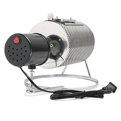 TOPCHANCES 110V Home Kitchen Stainless Steel Coffee Roaster Machine 40W Coffee Roaster Roller Baker Tools by TOPCHANCES