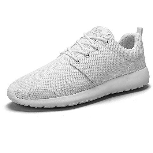 para al Ligeras Tenis Aire Zapatos para Caminar Atletismo Zapatillas Blanco de Casual Hombres Calzado Running CAMEL Transiprable Libre CROWN Correr Malla Gimnasio Deportivos 4wCqnxOA