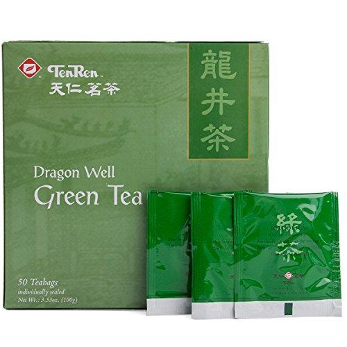 Ten Ren Lung Ching Tea, Taiwan Tea, Bag Collection, 50 Bags (Green Tea Dragonwell)