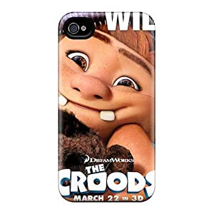 Protector Cell-phone Hard Covers For Iphone 4/4s (gWI29niyl) Provide Private Custom Stylish The Croods Image