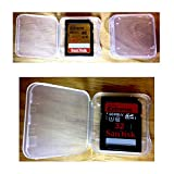 SD Card Holder, WOVTE Plastic SD MMC SDHC PRO Duo