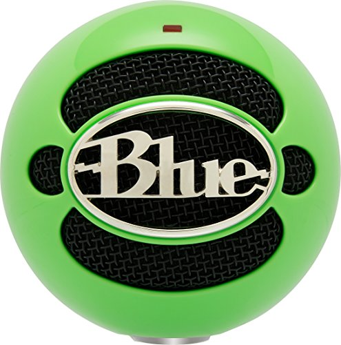 Blue Snowball USB Microphone (Neon Green) 12 Noise Cancellation Microphone
