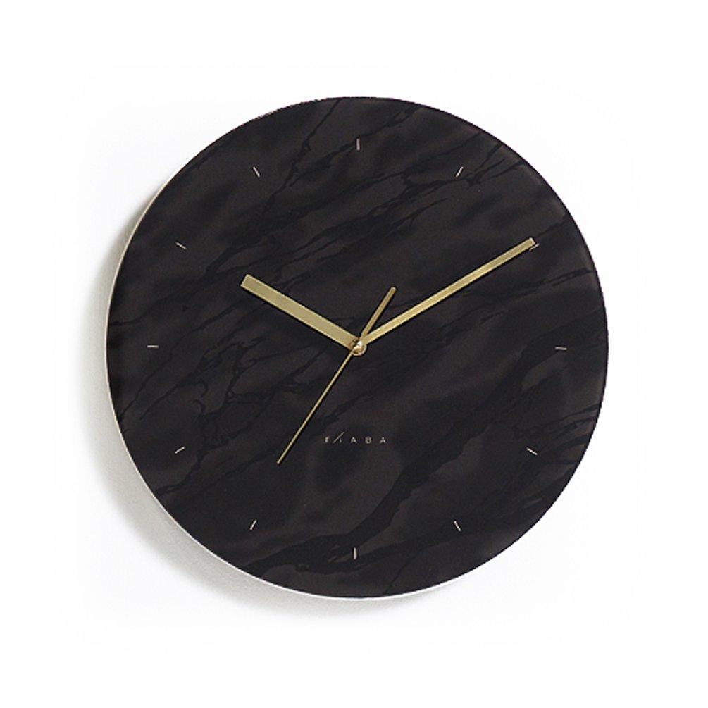 おしゃれな ブラック インテリアクロック シンプルでクールな デザイン 掛け時計 (34Cm) B0755JBFBH34Cm