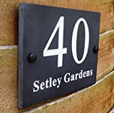 High Quality Deep Engraved Natural Honed Slate House Name Sign Number Plaque (15cm x 20cm)