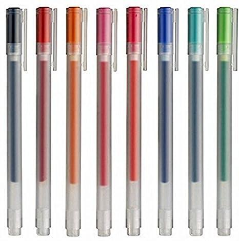 Muji Gel Ink Ballpoint Pens 0.38mm 8-colors Set ayong16