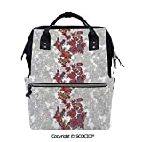 SCOCICI Stylish Durable School Backpack Romantic Boho Style Narcissus Magic Magnolia Rose Pattern Print,for Men and Women Bookbag!