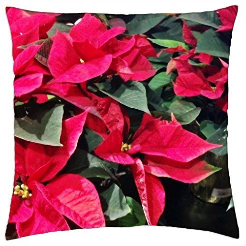 A Sea Of Poinsettias - Throw Pillow Cover Case -