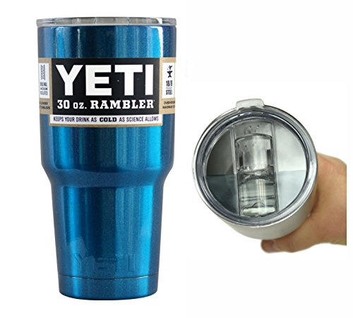 Yeti Coolers 30 oz Rambler Tumbler with Exclusive Spill Resistant Lid (Blue Metallic)