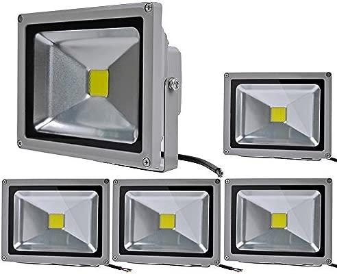ALPHA DIMA 5X 20W Proyector LED para Exterior Gris,Blanco ...