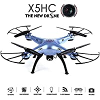 Qsmily SYMA X5HC 2.4G 360° Eversion RC Quadcopter Drone With 2MP HD Camera High Hold Mode (Blue)