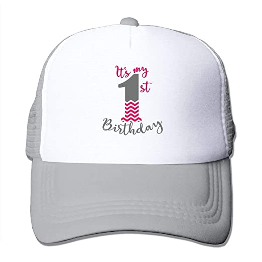 Its My First Birthday Adjustable Sports Mesh Baseball Caps Trucker Cap Sun Hats