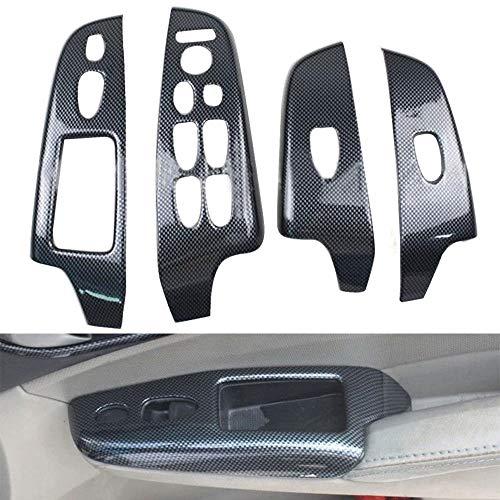 - car Interior Accessories: 4pcs/Set Carbon Fiber Color Door Window Lift Buttons Cover Trim for Honda Civic 2006-2011 LHD(4dr Sedan) Car Styling Accessories