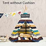 Dewel Removable and Washable striped Pet Kennels Pet Play House Dog Play Tent (L)