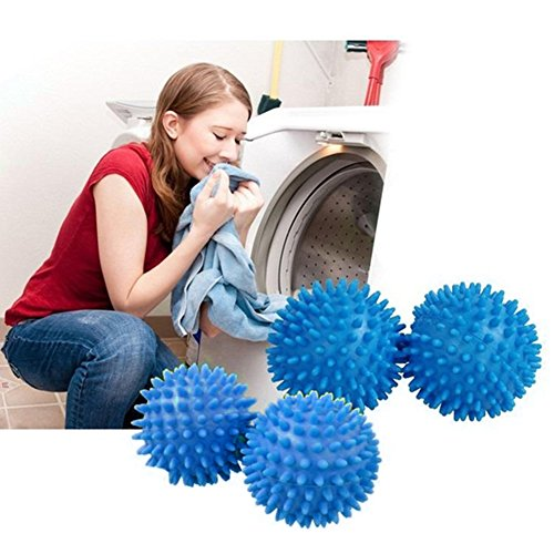 Tumble Dryer Balls,Soften Clothes Drying Accelerator,New Softer Material with Variable Node Design,Save Money, Time and The Environment(1PC Blue)