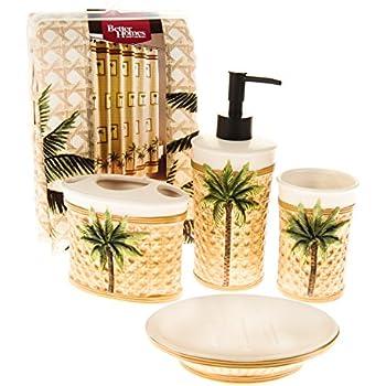 Wonderful Amazon.com: Better Homes and Gardens 5 Piece Palm Bath Set: Home  NO75