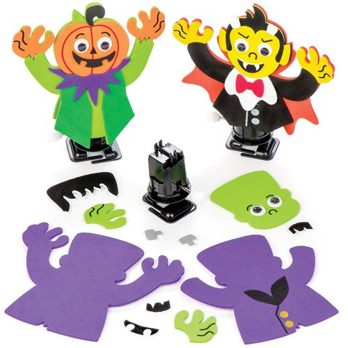 Wind-up Halloween Racer Kits For Kids Fun-Packed Halloween Toys At Pocket Money Prices - Perfect Party Bag Fillers For Children (Pack of (Projects For Halloween For School)