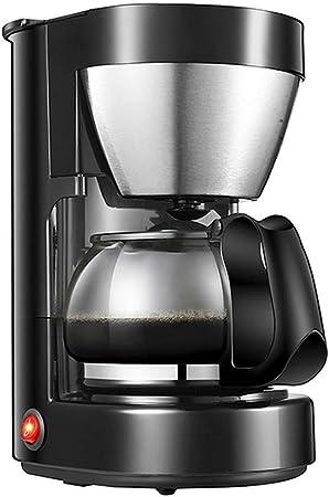 ZGZXD Cafeteras de Goteo, Coffee Maker eléctrica con Filtro 0,65 litros, 6 Tazas cafetera té de Burbujas, Negro: Amazon.es: Hogar