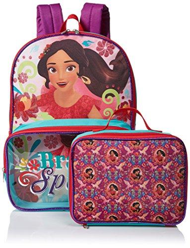 Disney Girls' Elena Backpack with Lunch Window Pocket, Multi