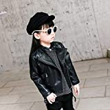 BPOF99 Toddler Outwear Baby Girl Leather Jacket