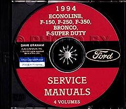 step by step 1994 ford truck van pickup factory repair shop rh amazon com 94 f150 repair manual 94 f150 repair manual