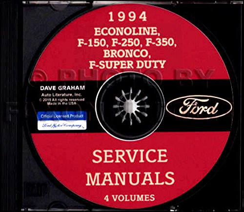 Shop Bronco Manual (STEP-BY-STEP 1994 FORD TRUCK, VAN & PICKUP FACTORY REPAIR SHOP & SERVICE MANUAL CD - Includes Econoline, F-150, F-250, F-350, F-450, F-550,Bronco, F-Super Duty)