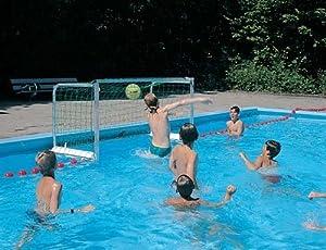 Kids Water Sports Aqua Games Swimming Pool Accessories Mini Water Polo Goal Set