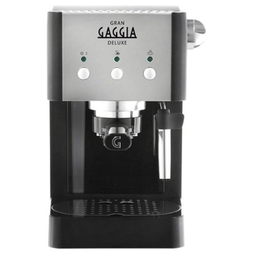 Classic Semi-Automatic Espresso Maker Pannarello Steam Nozzle for Latte and Cappuccino Frothing. Brews for Both Single and Double Shots 220V