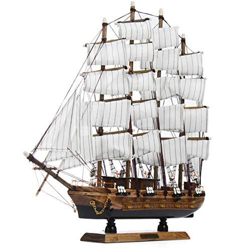 ZUINIUBI Model Ship to Be Built for Teens Adults 20inch Handmade DIY 3D Wooden Sailing Boats Model Assembly Nautical Ship Schooner Boat Home Office Decorations Birthday Gift