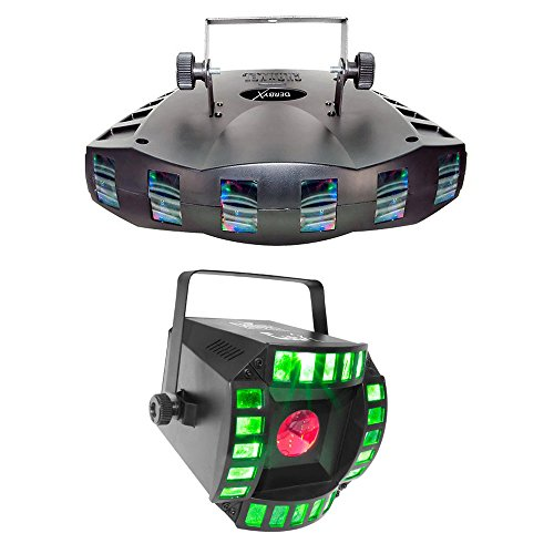 Chauvet Derby X LED RGB DMX 512 Strobe Light + Cubix LED RGB Centerpiece Light by CHAUVET DJ