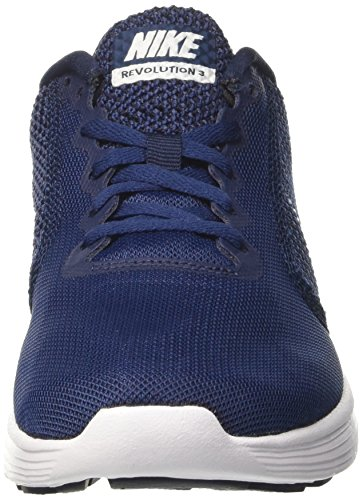 Juoksukengät 3 Vallankumous keskiyöllä Nike 406 Laivasto Sininen Miesten Valkoinen Obsidiaanikivestä 1qUCwA