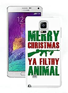 Personalized Design Merry Christmas White Samsung Galaxy Note 4 Case 20