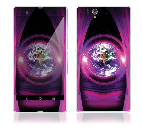 Sony Xperia Z Decal Phone Skin Decorative Sticker w/ Free Matching Wallpaper - Mystic Earth