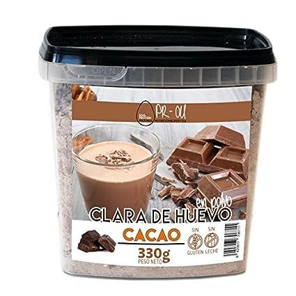PR-OU Egg Protein - Clara de Huevo en Polvo - 330g - Chocolate