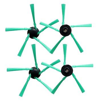 Huiaway 4 piezas/lote Robot Aspirador Accesorios para Vorwerk VR-200 SEITENBURSTE para KOBOLD VR200 Saugroboter Repuesto Cepillo lateral: Amazon.es: Hogar