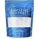Ancient Minerals Magnesium Bath Flakes 1.65lbs - Pure Genuine Zechstein Magnesium Chloride - Bath Salt Supplement - Best for Topical Skin Absorption in Bath and Foot Soaks